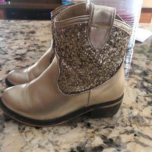 Angels face gold glitter boots girls size 10